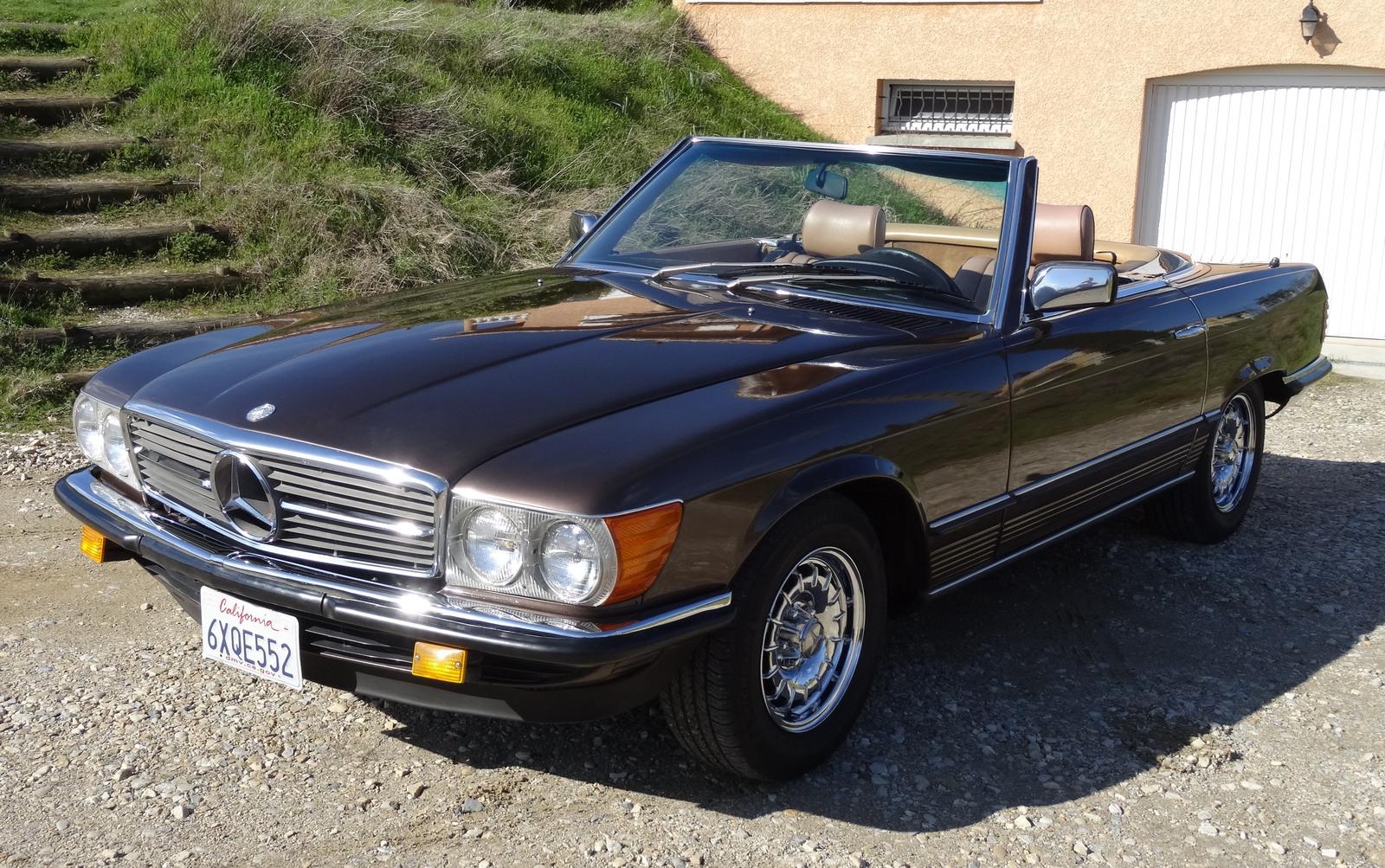 En vendre, Mercedes 380 SL R107 Cabriolet 1981 (pare-chocs européens)